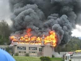 school burning